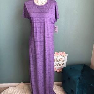 LulaRoe Maria Fit Cap Sleeve Maxi Dress